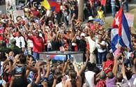 Toàn cảnh: Hàng trăm nghìn người dân Cuba tiễn đưa Fidel Castro về nơi an nghỉ