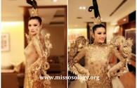 Choáng với chiếc váy trong suốt của Hoa hậu Trung Quốc tại Miss Universe