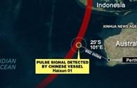 """Máy bay MH370 mất tích: Tàu Trung Quốc, Australia ba lần bắt được tín hiệu """"ping"""""""