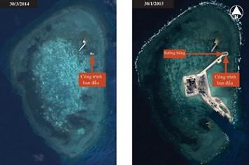 Trung Quốc tăng tốc xây các đảo trái phép trên Biển Đông