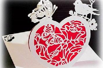 Những tấm thiếp Valentine 3D tuyệt đẹp cho ngày lễ Tình nhân