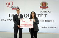 """Chương trình """"Góp tết với người nghèo Xuân Giáp Ngọ"""" Habeco ủng hộ 100 triệu đồng"""