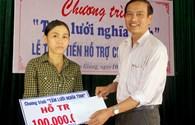 Quỹ Tấm lòng vàng hỗ trợ 100 triệu đồng cho ngư dân bị cháy tàu