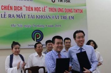 """Cục Trẻ em khởi động chiến dịch """"Tiên học lễ"""" trên ứng dụng Tiktok"""