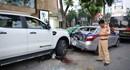 Tai nạn liên hoàn trên phố Bà Triệu, một học sinh bị thương nặng