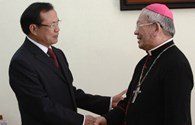 Bí thư thành ủy  thăm Tòa Tổng Giám mục Hà Nội