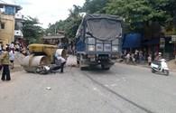 TNGT nghiêm trọng, một tài xế bị kéo lê dưới gầm xe tải
