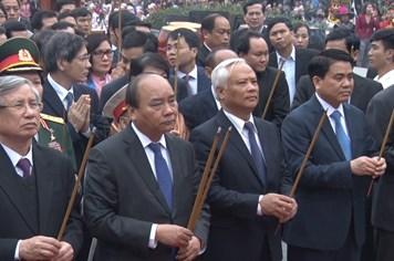 Thủ tướng Nguyễn Xuân Phúc dâng hương vua Quang Trung - Nguyễn Huệ