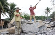 Tai nạn lao động đá chẻ làm một người tử vong