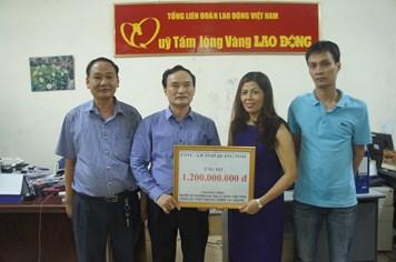 Trao 1,2 tỉ đồng ủng hộ chương trình xây dựng Khu tưởng niệm nghĩa sĩ Hoàng Sa và vùng bị thiệt hại do thiên tai