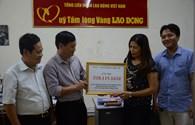LĐLĐ tỉnh Nghệ An ủng hộ hơn 518 triệu đồng tới vùng bị thiệt hại do thiên tai