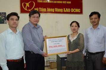 Gần 600 triệu đồng ủng hộ chương trình xây dựng Khu tưởng niệm chiến sĩ Gạc Ma và vùng bị thiên tai