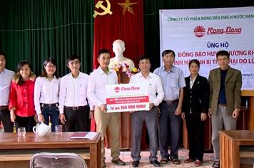 Cty CP Bóng đèn Phích nước Rạng Đông tặng gần 2.500 suất quà gửi tới đồng bào vùng lũ