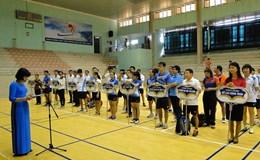 Công đoàn viên chức tỉnh Thái Bình tổ chức giải cầu lông CBCNVC