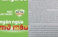 """Vụ """"Quảng cáo máy lọc nước Kangaroo ngừa mỡ máu"""": Tập đoàn Kangaroo không được sử dụng kết qủa thử nghiệm cho bất kỳ hoạt động nào"""