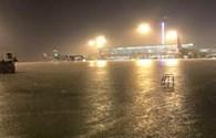 Sân bay Tân Sơn Nhất ngập vì mưa lớn, 35 chuyến bay bị ảnh hưởng