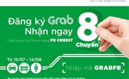 """Ưu đãi độc quyền """"Đăng ký Grabpay - Nhận ngay 8 chuyến"""" dành riêng cho chủ thẻ tín dụng FE CREDIT"""