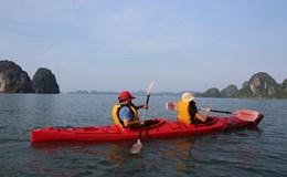 Dịch vụ kayak trên vịnh Hạ Long được hoạt động trở lại từ 1.5