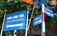 Hạ Long lắp đặt xong các biển báo song ngữ Việt-Anh