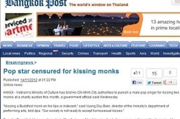"""Báo Thái Lan bêu riếu vụ Mr. Đàm """"khóa môi"""" cư sĩ"""