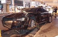 Nóng: Xe Audi đón ca sĩ Hồ Ngọc Hà gây tai nạn tại sân bay, 12 người bị thương