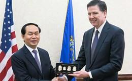 Bộ trưởng Trần Đại Quang hội đàm với Giám đốc FBI