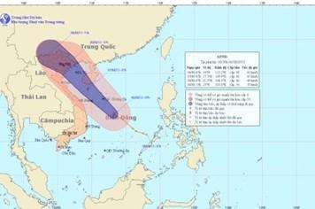 Cơn bão số 6: Áp thấp nhiệt đới đã mạnh lên thành bão