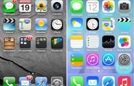 Sự khác biệt về giao diện giữa iOS 7 và iOS 6