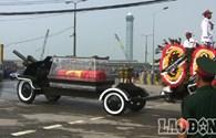 Video: Đoàn xe di cữu Đại tướng vào sân bay Nội Bài