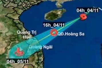 Bão số 12: Đêm nay sẽ cập bờ và suy yếu thành một vùng áp thấp