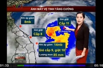 Bão số 14: Bản tin 9h cập nhật vị trí và đường đi của siêu bão Haiyan