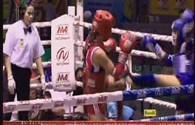 SEA Games 27: Clip Bùi Thị Quỳnh xuất sắc hạ võ sĩ người Thái, đoạt HCV môn muay Thái
