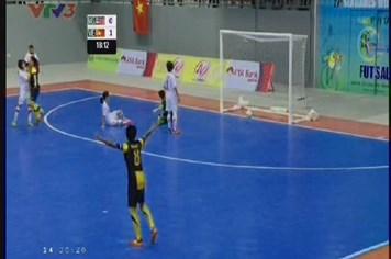 Trực tiếp futsal nữ: Clip bàn thắng gỡ hòa 1-1 của Malaysia ở đầu hiệp hai