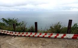 Hàng trăm đinh ốc rào chắn đường lên núi Sơn Trà hư hỏng, tiềm ẩn nguy cơ tai nạn