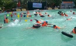 LĐLĐ Tiên Lãng (Hải Phòng): Thi bơi cứu hộ thiên tai năm 2017