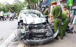 """Hải Phòng: Xe """"điên"""" gây tai nạn liên hoàn trên phố Quang Trung"""