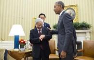 Khi Tổng Bí thư  Nguyễn Phú Trọng và Tổng thống Obama cùng nhìn đồng hồ