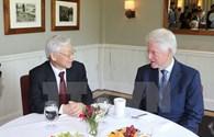 Tổng Bí thư Nguyễn Phú Trọng thăm gia đình cựu Tổng thống Hoa Kỳ Bill Clinton
