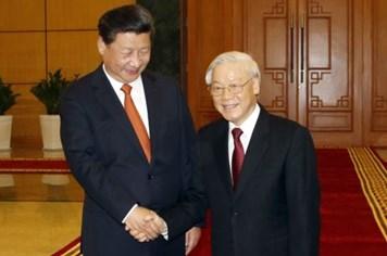 Chủ tịch Tập Cận Bình chúc mừng Tổng Bí thư Nguyễn Phú Trọng