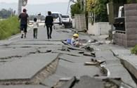 Cảnh hoang tàn tang thương sau động đất Nhật Bản