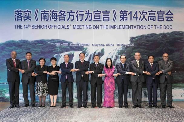 Các đại biểu tham dự SOM ASEAN - Trung Quốc ngày 18.5. (Ảnh: Bộ Ngoại giao)