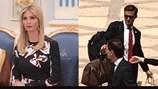 """Dân mạng """"phát sốt"""" với Ivanka Trump và người đàn ông đeo cà vạt đỏ"""