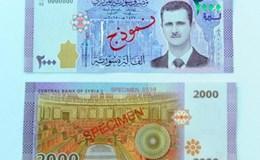 Syria lần đầu in chân dung Tổng thống Assad lên tiền mới