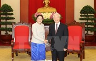 Lãnh đạo Việt Nam - Lào trao đổi điện mừng