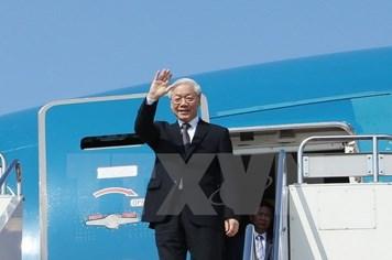 Tổng Bí thư lên đường thăm cấp Nhà nước Vương quốc Campuchia