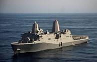 Chiến hạm Mỹ USS San Diego cập cảng quốc tế Cam Ranh