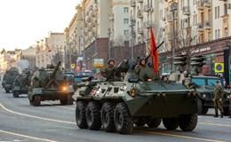 Hình ảnh dàn chiến xa, tên lửa Nga trước Lễ duyệt binh 9-5