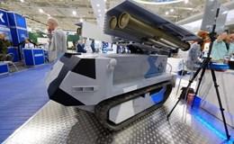 """Belarus giới thiệu robot tên lửa chống tăng tự hành """"Bọ ngựa"""""""