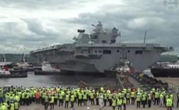 Hình ảnh siêu tàu sân bay 4,5 tỉ USD của hải quân Anh ra mắt