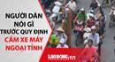 Người dân nói gì trước quy định cấm xe máy ngoại tỉnh ở Hà Nội?